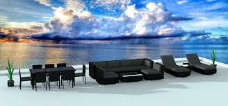 Modern Wicker Patio Furniture by Black Series 19 Ultra Modern Wicker Patio Set Www