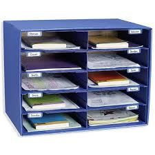 Desk Organizer Box Classroom Keepers Mail Box And Literature Organizer 10 Slot
