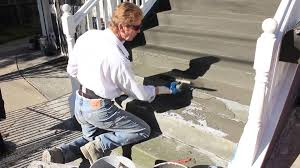 apply stucco acrylics for slip proof and water resistance stairs