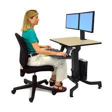 Ergotron Sit Stand Desk Stand Up Workstation Workfit Pd Adjustable Sit Stand Desk Ergotron