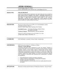 Recruitment Resume Example Police Recruit Resume Free Sample