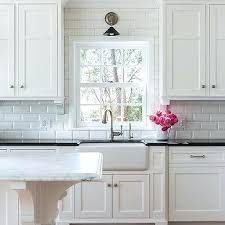 white beveled subway tile kitchen backsplash subscribed me