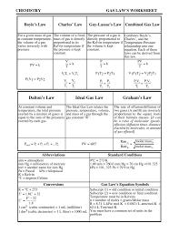 gas law u0027s worksheet willamette leadership academy
