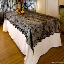 skull pirate lace table clothes halloween party diy decoration