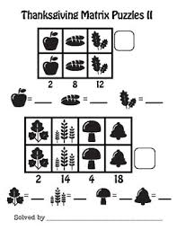 addition matrix puzzles thanksgiving math customize by