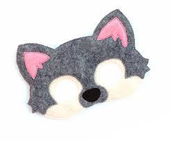 kids grey wolf mask wolf costume dog felt mask kids face mask