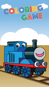 trains friends coloring game paint thomas version apps