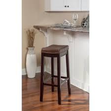 cushioned bar stool linon home decor claridge 32 in dark brown cushioned bar stool