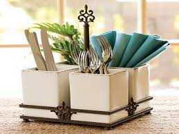 Kitchen Table Accessories dining room glass rain flatware caddy for kitchen accessories ideas