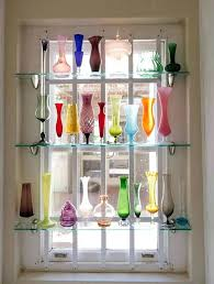 kitchen display ideas display shelves 6 animate you colorful vase collection display