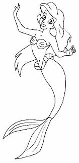 111 dessins de coloriage La Petite Sirène à imprimer