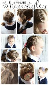 quick hairstyles for long hair at home easy hairstyles for little girls 10 ideas in 5 minutes or less
