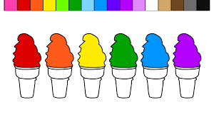 learn colors for kids with soft serve ice cream cone coloring