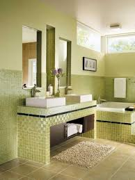 yellow and green simple bathroomeas interior design orange bowl