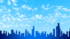 backdrop city a cloudy city with the sky as a backdrop stock footage