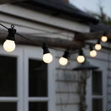 Festoon Lighting Outdoor String Of 10 White Cafe Festoon Lights With Bs 3 Pin Plug Rex