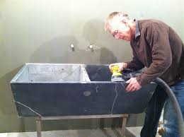 stone utility sink befon for
