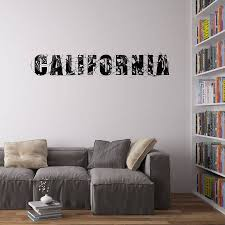 california typography vinyl wall art sticker by vinyl revolution california typography vinyl wall art sticker