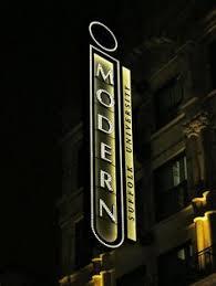 modern theatre suffolk university boston ma marquee sign