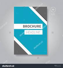 modern blue vector brochure template design for book or magazine