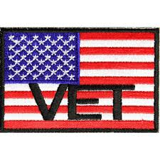 Embroidered American Flag American Flag Vet Patch