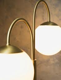 Globe Table Lamp Double Lecce Brass U0026 Globe Table Lamp At Rose U0026 Grey
