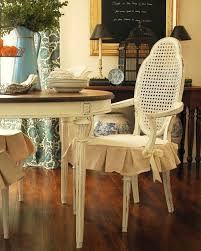 chair cushions dining room chair pads with skirts classic vintage look white wood dining chairs