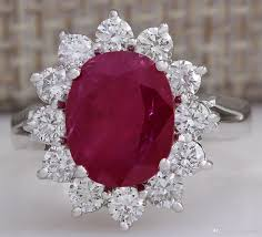 ruby diamond ring 2018 4 03ctw ruby diamond ring 14k solid white gold