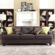 homesullivan emerson dark grey linen sofa 40e502s dglsofa the