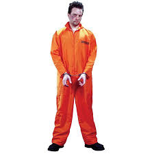 jumpsuit costume got busted orange jumpsuit costume one size