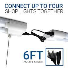 hyper tough led shop light hyperikon led shop light 4ft utility garage light 38w linkable with