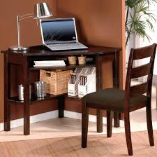 Small Corner Table by Cherry Finish Home Office Modern Corner Desk U0026 Chair Set