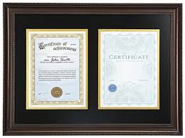 diploma frames with tassel holder dual diploma frame 2 8 5 x 11 documents