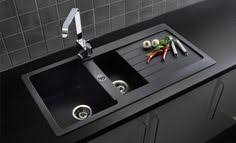 black granite composite sink our black granite composite sink contrasts beautifully in the solid