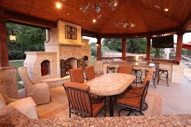 stone outdoor fireplace patio rustic with san diego environmental