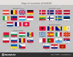 Europe Flags Set Of National European Flags U2014 Stock Vector Nastya Mal 149895808