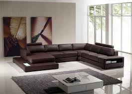 Modern Brown Sofa Sectional Sofas With Recliners Ultra Modern Brown Sectional Sofa