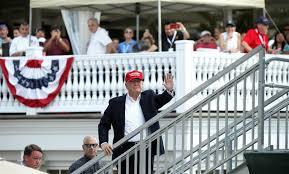 trump kicks off 17 day stay at his new jersey golf club nbc news