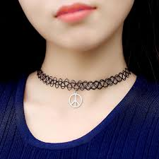 tattoo chokers necklace images 2018 vintage stretch tattoo choker necklace gothic punk grunge jpg