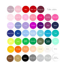 tulle color palette u2013 decopompoms party decoration boutique