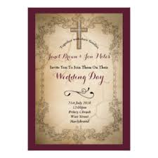 catholic wedding invitation catholic wedding invitations announcements zazzle co uk