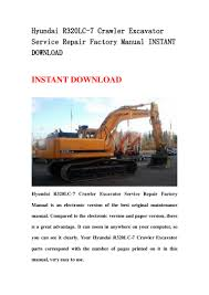 hyundai r320 lc 7 crawler excavator service repair factory manual ins u2026