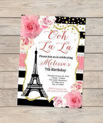 eiffel tower invitations birthday invitations eiffel tower invitations