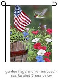 Custom Decor Garden Flags with Welcome Hummingbird Garden Flag By Artist Dempsey Essick For