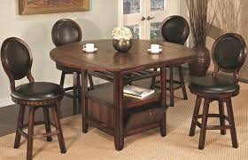 and leather high end of dining room table with upholstered chairs