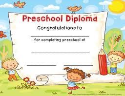 preschool diploma preschool diploma graduation certificate preschool end of year