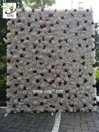 wedding backdrop flower wall uvg chr1136 ivory artificial flower wall wedding backdrop for