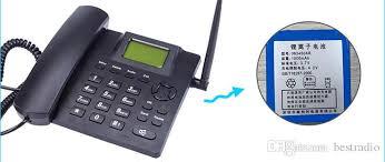 Desk Telephones Black Fixed Wireless Gsm Desk Phone Quadband Sim Card Sms Function