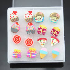 food earrings jewelry wholesale lot 8pairs mixed style girl s children lovely