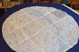 Map Quilt Constellation Quilt In The Making Threadtime